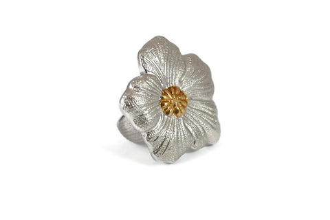 "Buccellati Blossoms ""Gardenia"" Ring, Sterling Silver with Gold Accents."