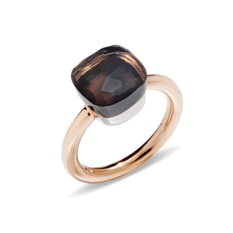 POMELLATO-NUDO-STACKABLE-RING-SMOKY-QUARTZ