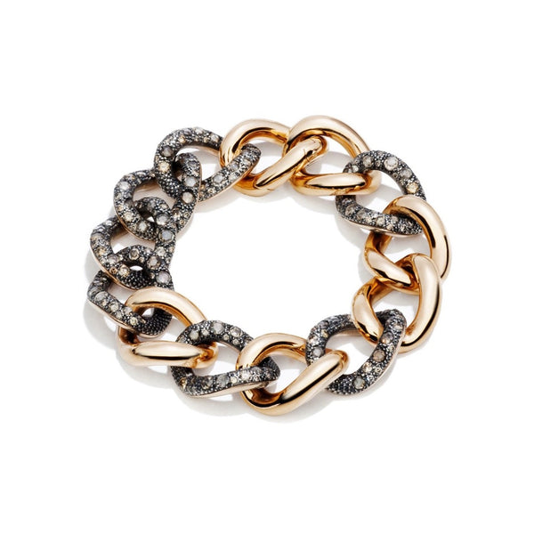 POMELLATO-TANGO-LINK-BRACELET-BROWN-DIAMONDS-ROSE-GOLD