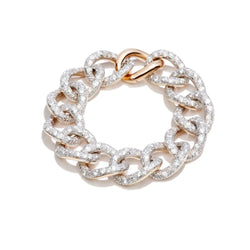 POMELLATO-TANGO-LINK-BRACELET-DIAMONDS-ROSE-GOLD-SILVER