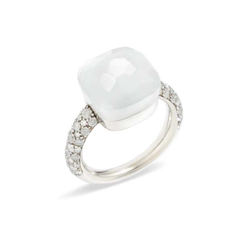 POMELLATO-NUDO-RING-MOONSTONE-ICE-DIAMONDS-18K-WHITE-GOLD