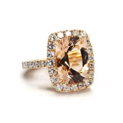 A & Furst - Dynamite - Cocktail Ring with Morganite and Diamonds, 18k Rose Gold