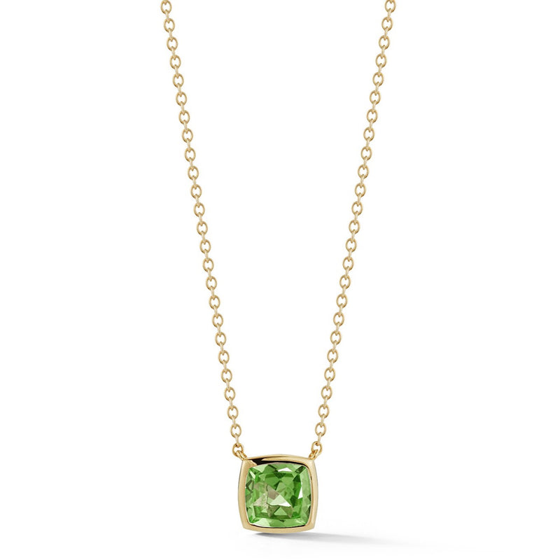 A & Furst - Gaia - Small Pendant Necklace with Peridot, 18k Yellow Gold