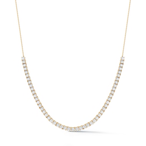 Dana Rebecca Designs - Ava Bea - Tennis Necklace with Diamonds, Yellow Gold