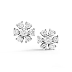 Dana Rebecca Designs - Jennifer Yamina - Diamond Flower Studs, White Gold