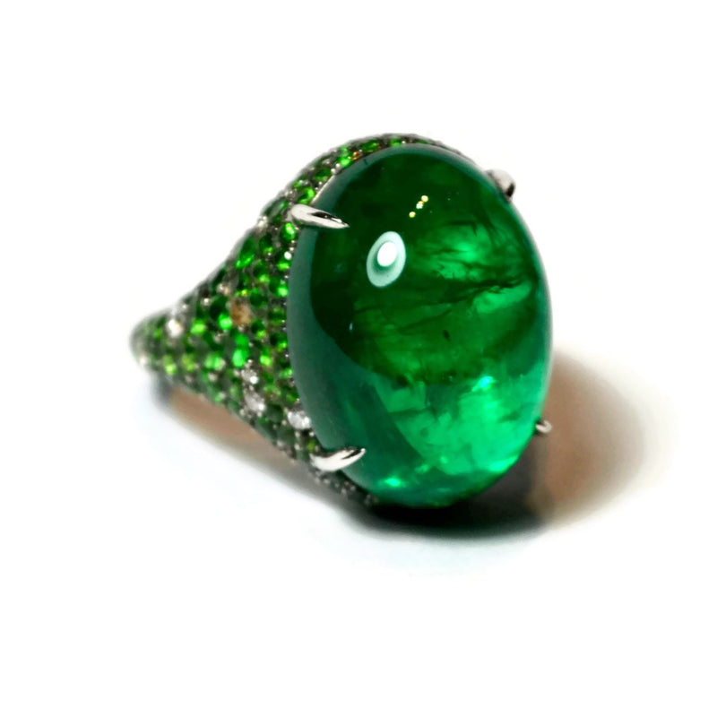 AF-JEWELERS-CABOCHON-EMERALD-RING-TSAVORITE-DIAMONDS
