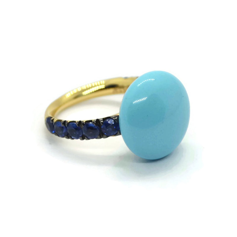 A-FURST-BONBON-STACKABLE-RING-TURQUOISE-KYANITE-YELLOW-GOLD-A1210GNKYTU