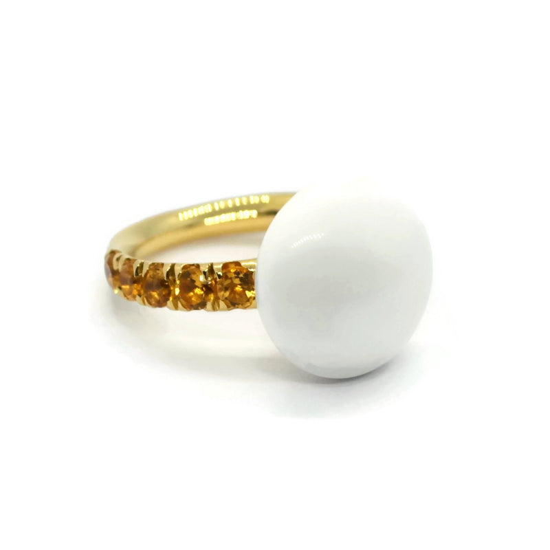 A-FURST-BONBON-STACKABLE-RING-WHITE-AGATE-CITRINE-YELLOW-GOLD-A1210GCKO