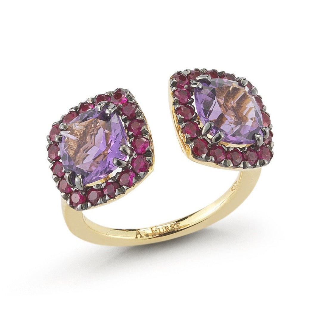 A-FURST-DYNAMITE-DOUBLE-STONES-RING-AMETHYST-RUBIES-BLACKENED-YELLOW-GOLD-A1322GNA2
