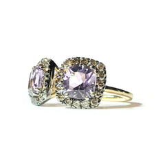 A-FURST-DYNAMITE-DOUBLE-STONES-RING-ROSE-DE-FRANCE-BROWN-DIAMONDS-A1322GNRFY