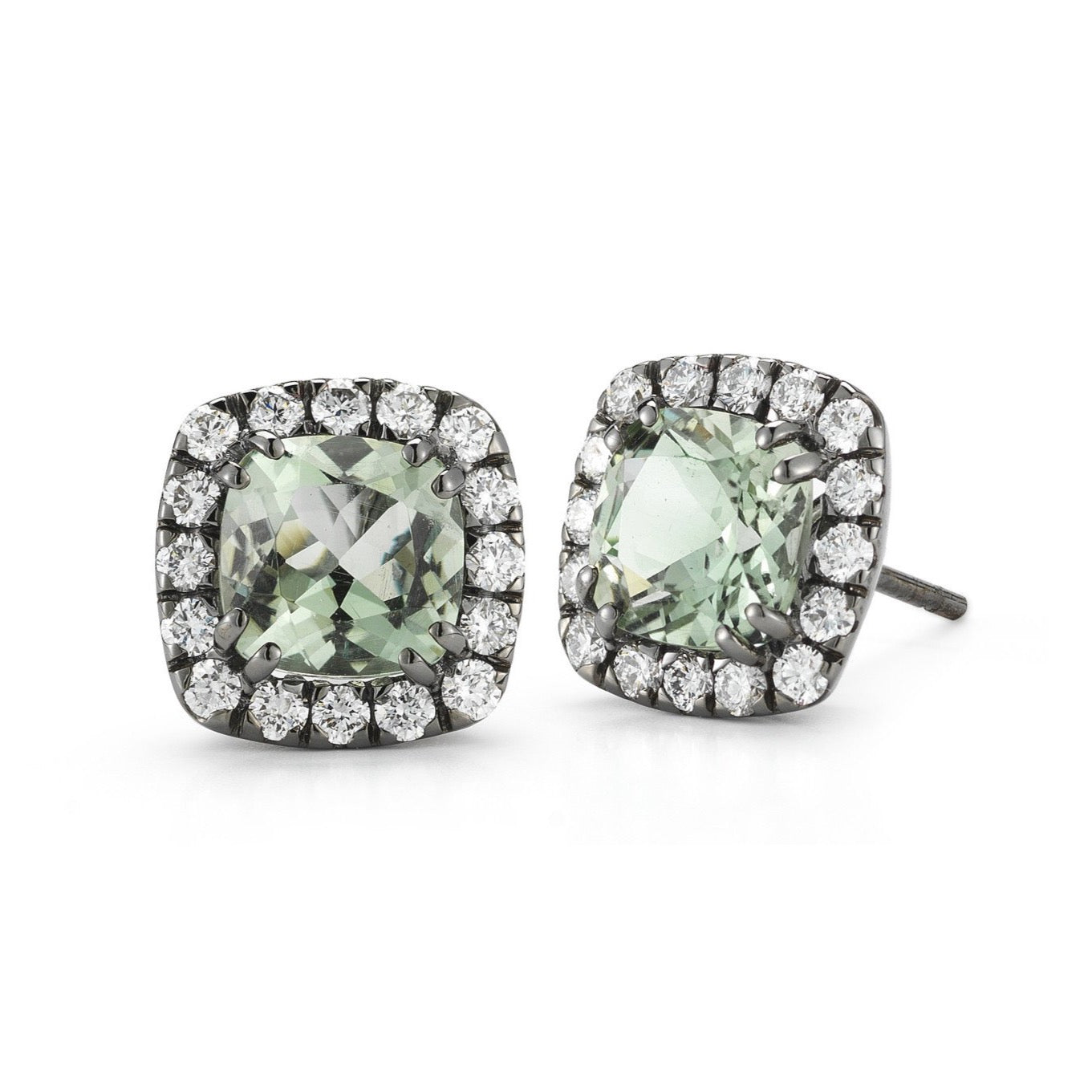 A-FURST-DYNAMITE-STUD-EARRINGS-PRASIOLITE-WHITE-DIAMONDS-BLACKENED-GOLD-O1321NP1