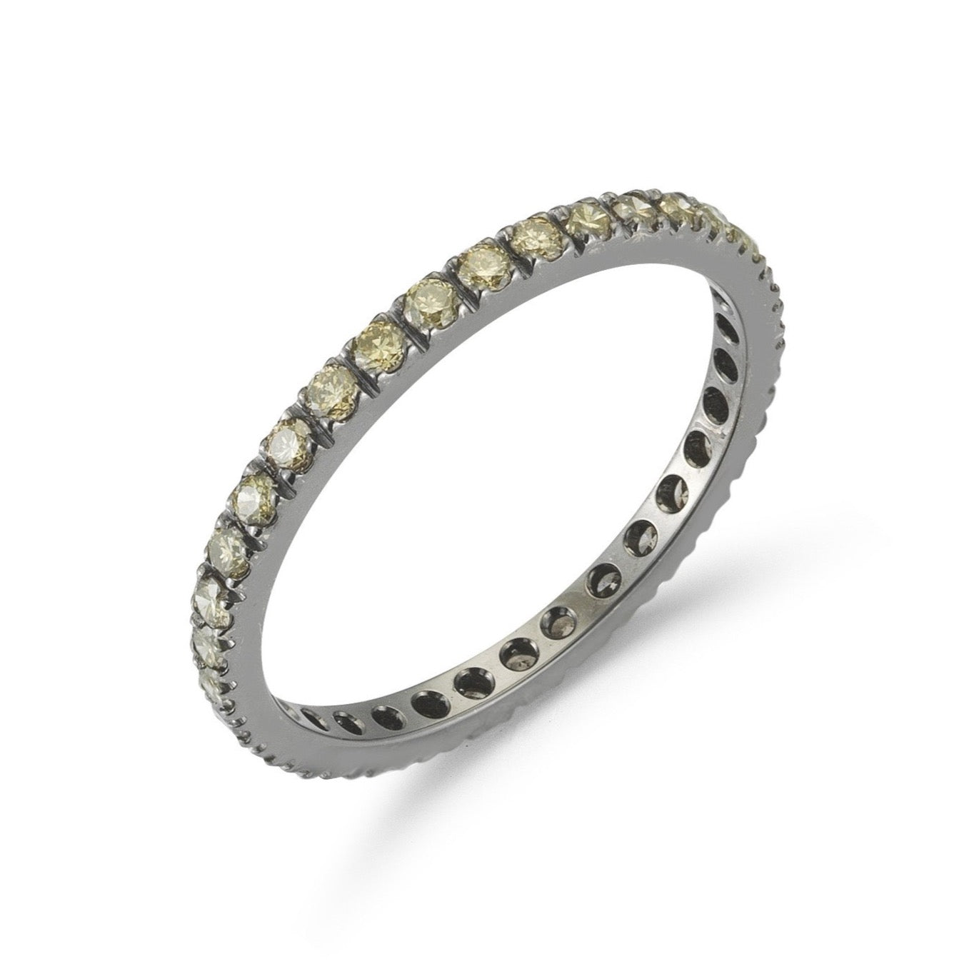 A-FURST-FRANCE-ETERNITY-BAND-RING-BROWN-DIAMONDS-BLACKENED-GOLD-A1290NY-1.5