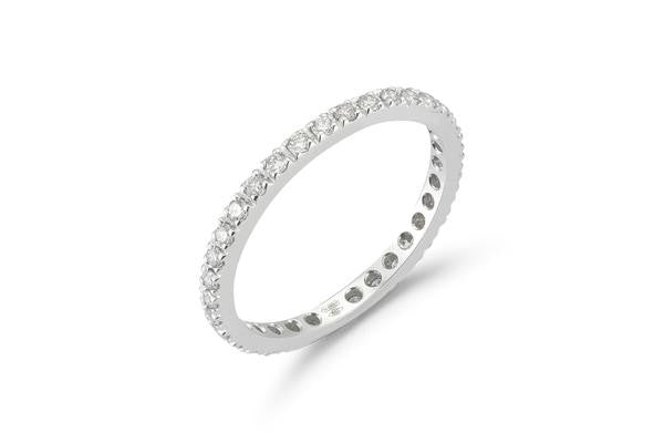 AF Jewelers Eternity Band with Diamonds, 18k White Gold.