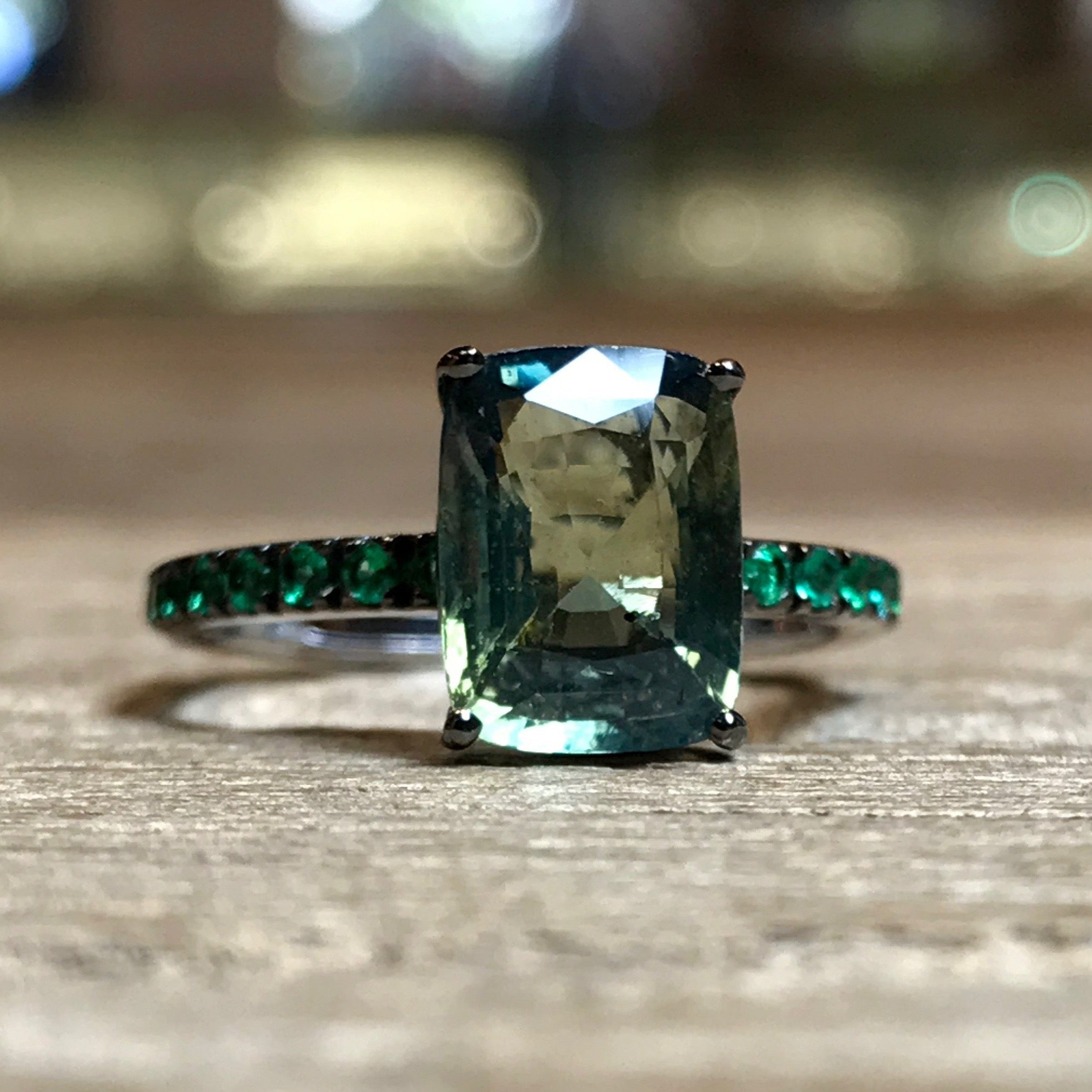 sapphire ring alt buy ombre band green paolo an costagli yellow gold products