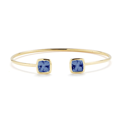 A & Furst - Gaia - Bangle Bracelet with London Blue Topaz, 18k Yellow Gold