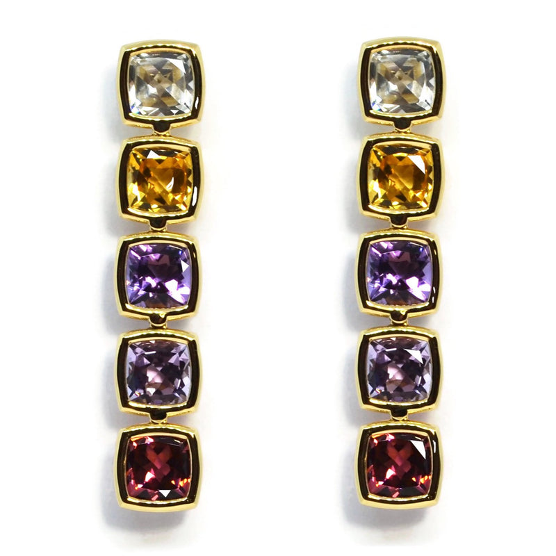 A-FURST-GAIA-DROP-EARRINGS-TOPAZ-CITRINE-AMETHYST-PINK-TOURMALINE-YELLOW-GOLD-O1775G-ROSA