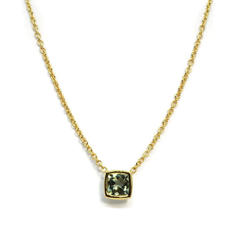A & Furst - Gaia - Pendant Necklace with Prasiolite,18k Yellow Gold