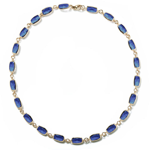 A & Furst - Gaia Necklace with London Blue Topaz, 18k Yellow Gold