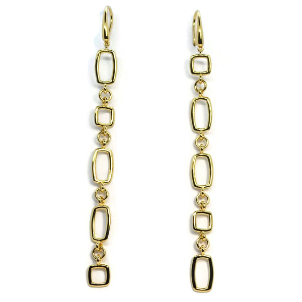 A & Furst - Gaia Oro - 18k Yellow Gold Long Drop Earrings