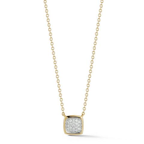 A & Furst - Gaia - Small Pendant Necklace with Diamonds, 18k Yellow and White Gold