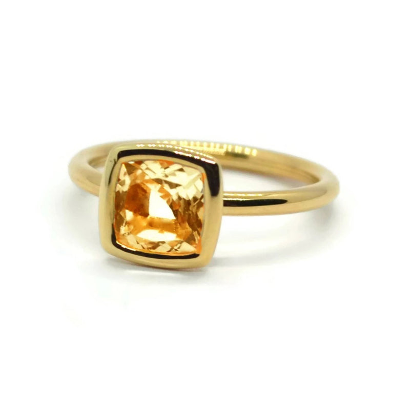A & Furst - Gaia - Small Stackable Ring with Citrine, 18k Yellow Gold