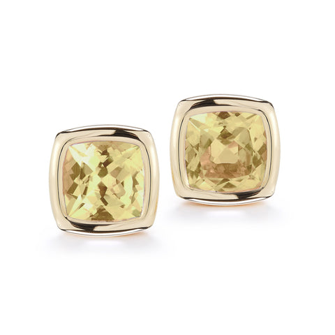 A & Furst - Gaia Stud Earrings with Citrine, 18k Yellow Gold