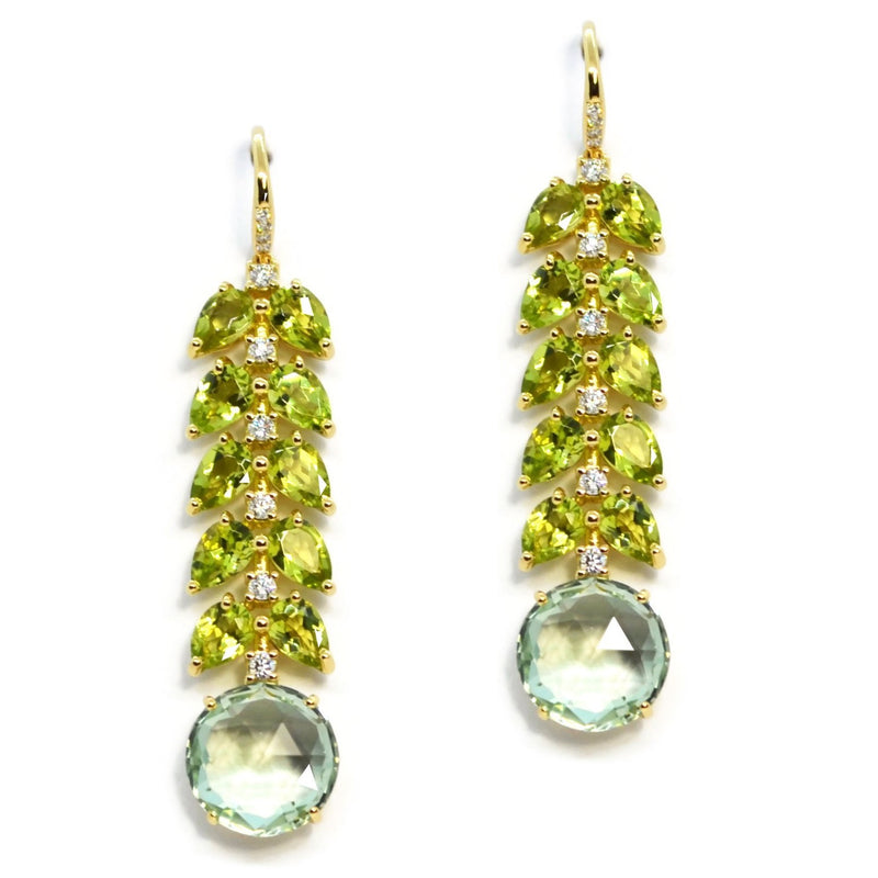 A-FURST-LILIES-DROP-EARRINGS-PERIDOT-PRASIOLITE-DIAMONDS-YELLOW-GOLD-O1920GOP1