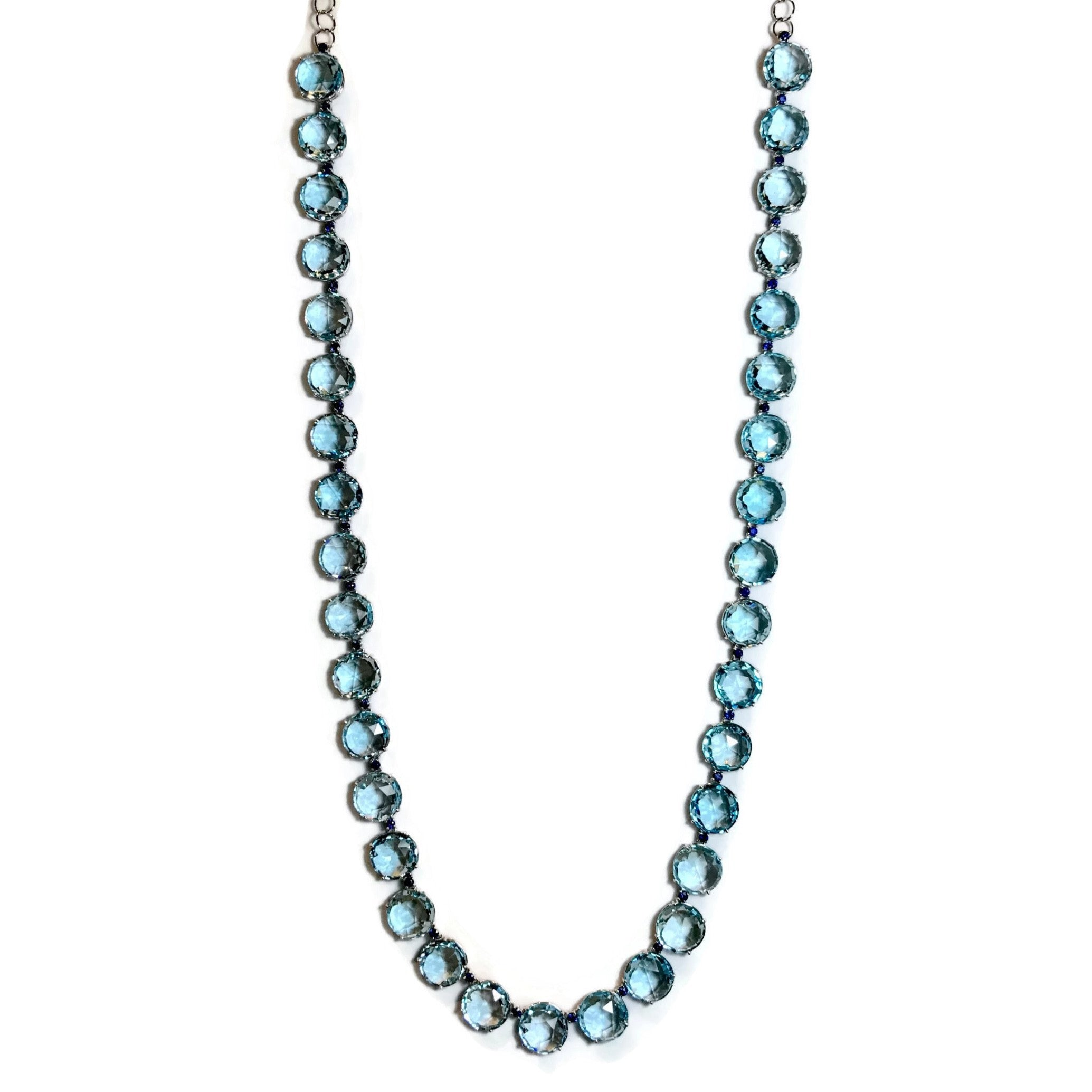 A-FURST-LILLIES-LONG-NECKLACE-BLUE-TOPAZ-SAPPHIRES-WHITE-GOLD-C1400BU4