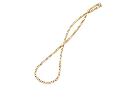 AF Jewelers Diamond Riviere Necklace, 18k Rose Gold.