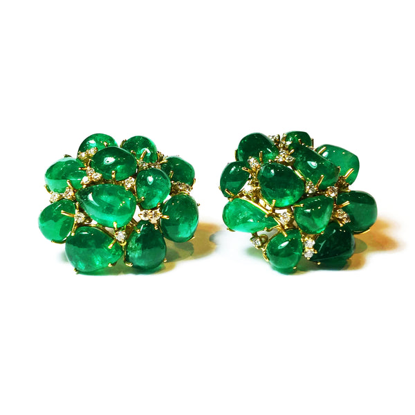AF-JEWELERS-ECLAT-CABOCHON-EMERALD-DIAMONDS-CLUSTER-EARRINGS_1