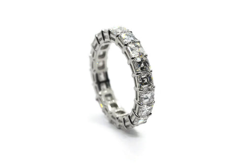 AF Jewelers Eternity Band Ring with Asscher-cut Diaomonds 4.61 ct., Platinum