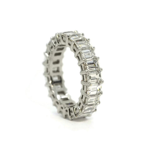AF Jewelers - Eternity Band Ring with Emerald-cut Diamonds 4.89 carats, Platinum