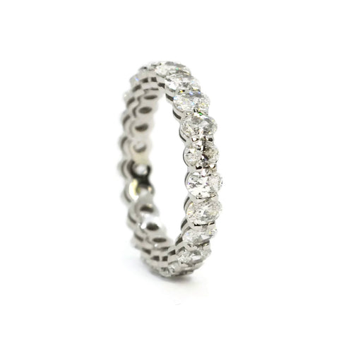 AF Jewelers - Eternity Band Ring with Oval Diamonds 2.86 carats, Platinum