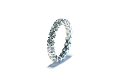 AF Jewelers Eternity Band Ring with Round Diaomonds 3.25 ct., Platinum