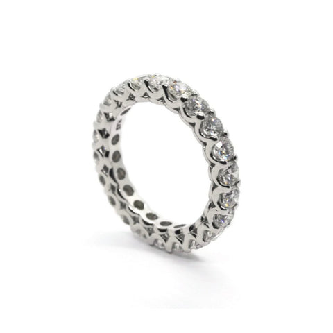 AF Jewelers Eternity Band Ring with Round Diamonds 2.21 ct., Platinum