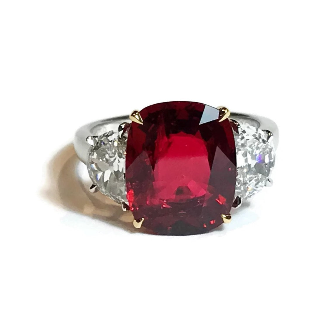 more natural ruby untreated platinum cut gia ct ii engagement oval ring rings views