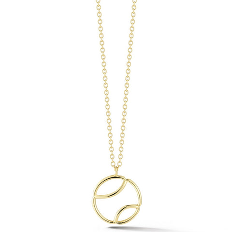 AF Jewelers - Tennis Ball Pendant with chain, 18k Yellow Gold