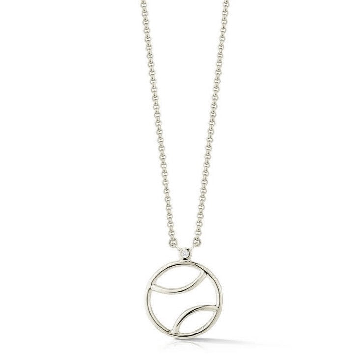 AF-JEWELERS-TENNIS-ANYONE-TENNIS-BALL-PENDANT-NECKLACE-STERLING-SILVER-DIAMOND-E1570S01