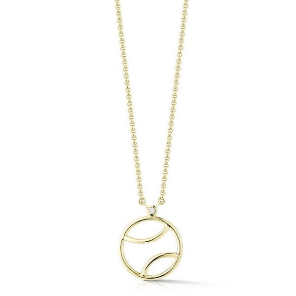 AF-JEWELERS-TENNIS-ANYONE-TENNIS-BALL-PENDANT-NECKLACE-STERLING-SILVER-GOLD-PLATED-DIAMOND-E1570SG01