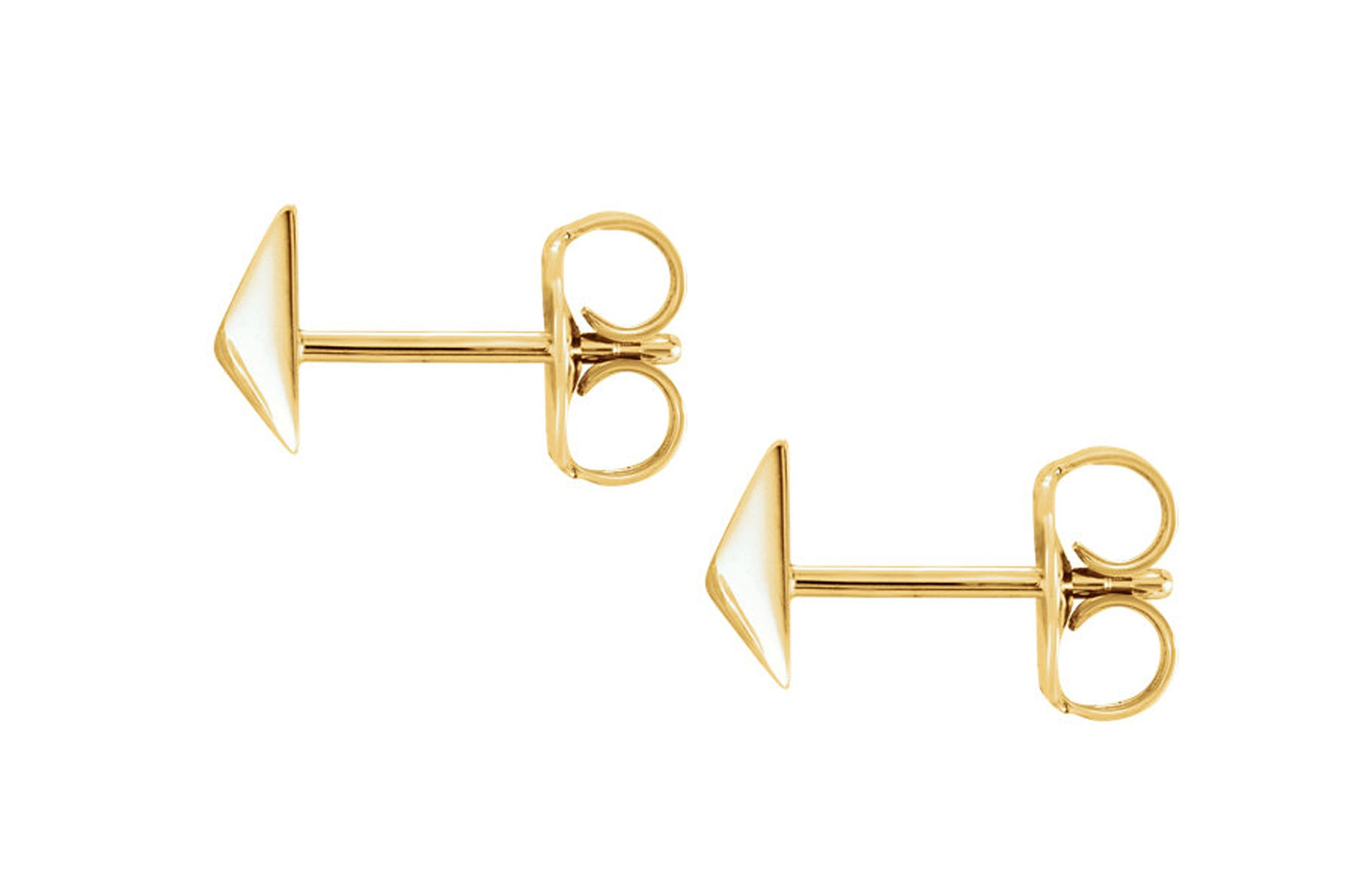amarcord fashion brushed stud from vintage ysl brooch pyramid products gold
