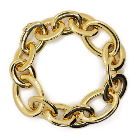 AF Collection Classic Oval Link Bracelet, 18k Yellow Gold.