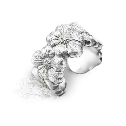 "Buccellati ""Blossoms Gardenia"" Band Ring, Sterling Silver"