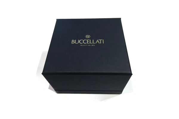 Buccellati - Macri Classica - Cuff Bracelet with Diamonds, 18k Black Gold. 15.5 mm