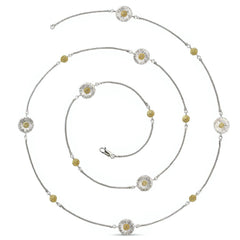 BUCCELLATI-BLOSSOMS-DAISY-STATION-NECKLACE-BROWN-DIAMONDS-STERLING-SILVER