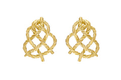 BUCCELLATI-CREPE-DE-CHINE-BUTTON-EARRINGS-YELLOW-GOLD-45820