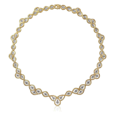 "Buccellati ""Etoilee"" Collar Necklace with Diamonds, 18k Yellow and White Gold"