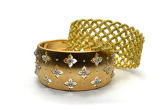 BUCCELLATI-GIGLO-CUFF-BRACELET-DIAMONDS-YELLOW-GOLD-AF-JEWELERS-NAPA-VALLEY