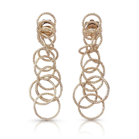 "Buccellati ""Hawaii"" Drop Earrings, 18k Rose Gold"