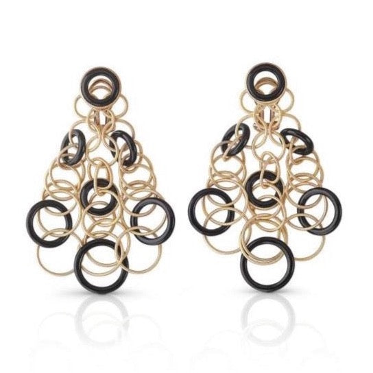 BUCCELLATI-HAWAII-DROP-EARRINGS-BLACK-ONYX-YELLOW-GOLD-AF-JEWELERS