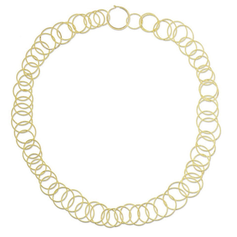 "Buccellati ""Hawaii"" Short Chain Necklace, 18k Yellow Gold"